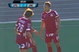 Christofer Gonzales y Alexi Gómez se pelean por tiro libre [VIDEO]