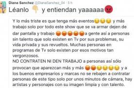 Diana Sánchez le pone el pecho a Julieta Rodríguez y le da un mensaje a todos los peruanos