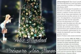 ¿Julieta Rodríguez pide perdón con este mensaje por año nuevo? - FOTO