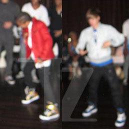 Justin Bieber se luce con el paso Moonwalk de Michael Jackson