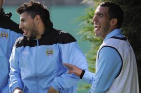 Liga Inglesa: Sergio Aguero feliz por el regreso de Carlos Tevez