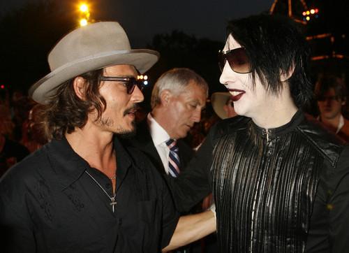 Johnny Depp y Marilyn Manson grabaron canción juntos