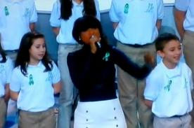 Video: Jennifer Hudson conmovió junto al coro de la escuela Sandy Hook