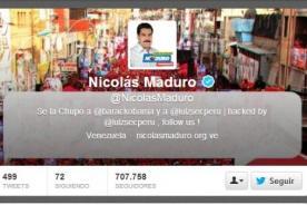 Twitter de Nicolás Maduro es controlado por grupo de hackers peruanos