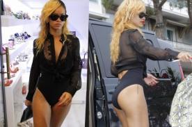 Rihanna paseó en traje de baño por calles de Mónaco - Fotos