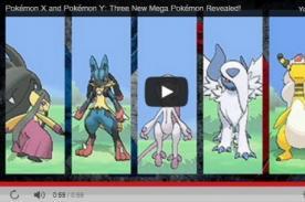 Pokémon: Nuevo tráiler con las Mega Evoluciones para Pokémon X Y - Video