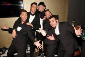 N'Sync en divertidas y felices fotos durante reencuentro en MTV VMA 2013