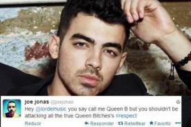 Joe Jonas defiende a Selena Gomez de críticas de Lorde