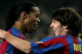 Ronaldinho: La rabia de Cristiano es vivir la misma época que Messi