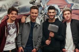 One Direction pasó la tarde con sus superhéroes favoritos