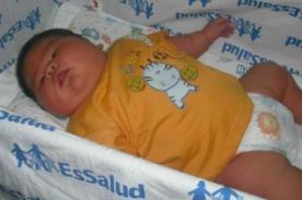 Insólito: Bebé nació pesando 6 kilos en Iquitos