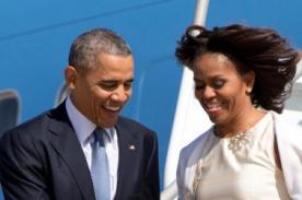 Michelle Obama casi muestra más de la cuenta