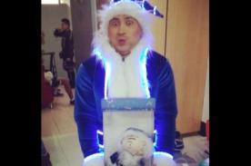 ¡Zumba causa sensación con su muñeco navideño! - FOTO