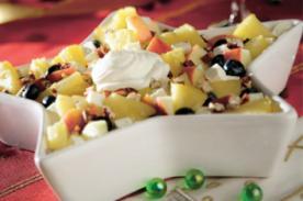 Cómo hacer una ensalada navideña de manzanas - Ingredientes y preparación