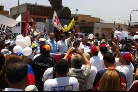 #SOSVenezuela: Perú se unió a la protesta mundial por Venezuela (FOTOS)