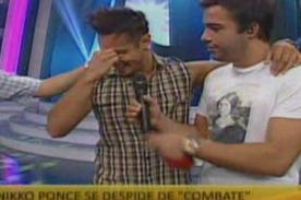 Combate: Nikko Ponce se quiebra al despedirse del reality - Video