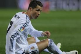 ¡Alarma en Real Madrid! Cristiano Ronaldo sintió molestias y no jugará ante Espanyol