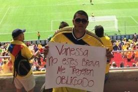 Hombre es 'obligado' a ir al Mundial 2014 y teme represalias de su mujer