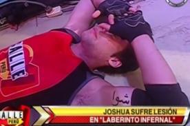 Calle 7 Perú: Joshua Yvanoff vuelve a sufrir corte en la rodilla [Video]