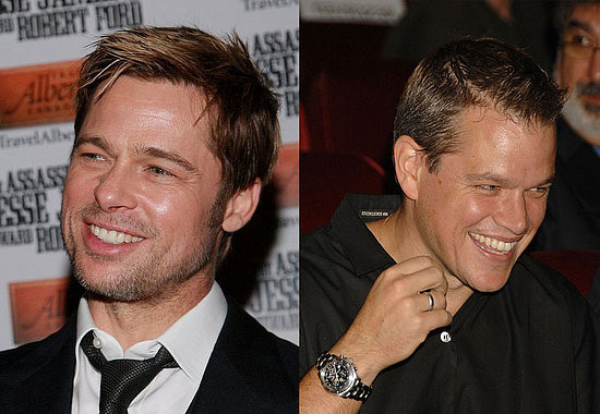 Matt Damon y Brad Pitt en Happy Feet 2