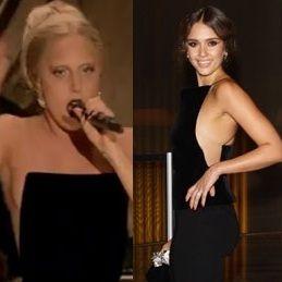 Lady Gaga Vs Jessica Alba: ¿Quién luce más fashion con cuadrático escote?