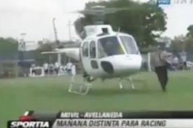 Fútbol argentino: Helicóptero interrumpe entrenamiento de Racing