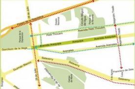 Av. Arequipa estará cerrada a partir de las 9:00 p.m.