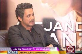 Alejandro Sanz está apenado por la salud de Pedro Suárez Vértiz