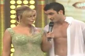 Video: Gisela Valcárcel continúa coqueteos con pareja de Carolina Cano