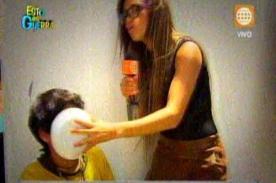 EEG: Angie Arizaga se vuelve 'profesora' en secuencia de cultura general