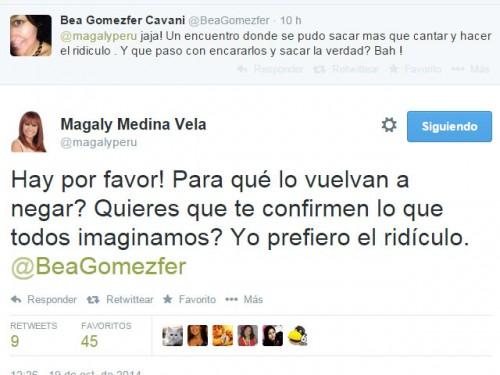 Magaly Medina se enfrenta a tuiteros por participación de Milet y Guty en su programa