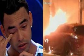 Diego Chávarri cuenta lo peor que le pasó después del incendio de su auto