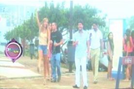 Celine y Marisol Aguirre se jaranean en el sur