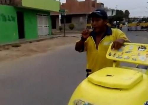 Video: Heladero Wachiturro toca con su corneta Tírate un Paso