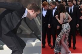 Robert Pattinson y Kristen Stewart casi sufren aparatosa caída en Cannes