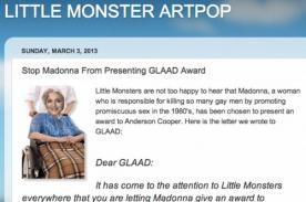 Fans de Lady Gaga quieren detener presentación de Madonna en los GLAAD
