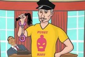 Putin Gay Dress Up en protesta contra la discriminación en Rusia