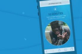 UNICEF: Dale agua a un niño que lo necesita alejándote de tu Smartphone