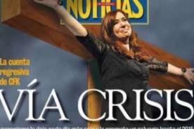 Foto: Presidenta de Argentina aparece crucificada en portada de revista