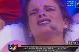 Reto de Campeones: Alejandra Baigorria y sus gritos de dolor tras reto bajo cero - VIDEO